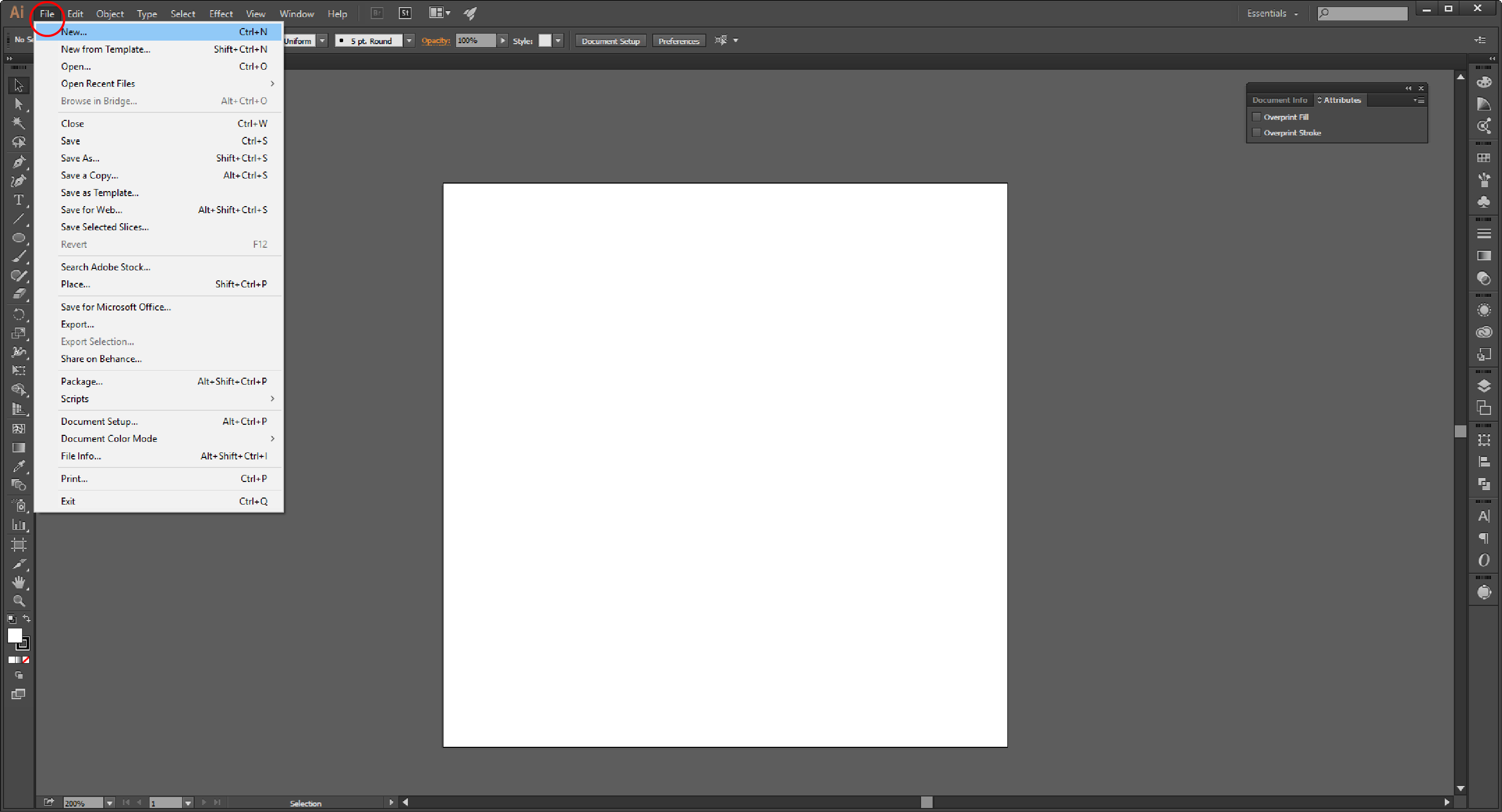 How to Embed an Image in Adobe Illustrator Step 1