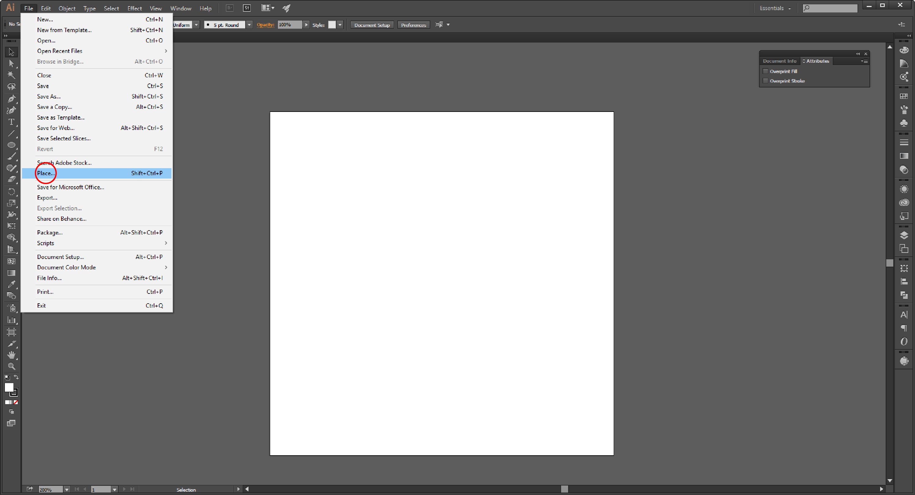 How to Embed an Image in Adobe Illustrator Step 2