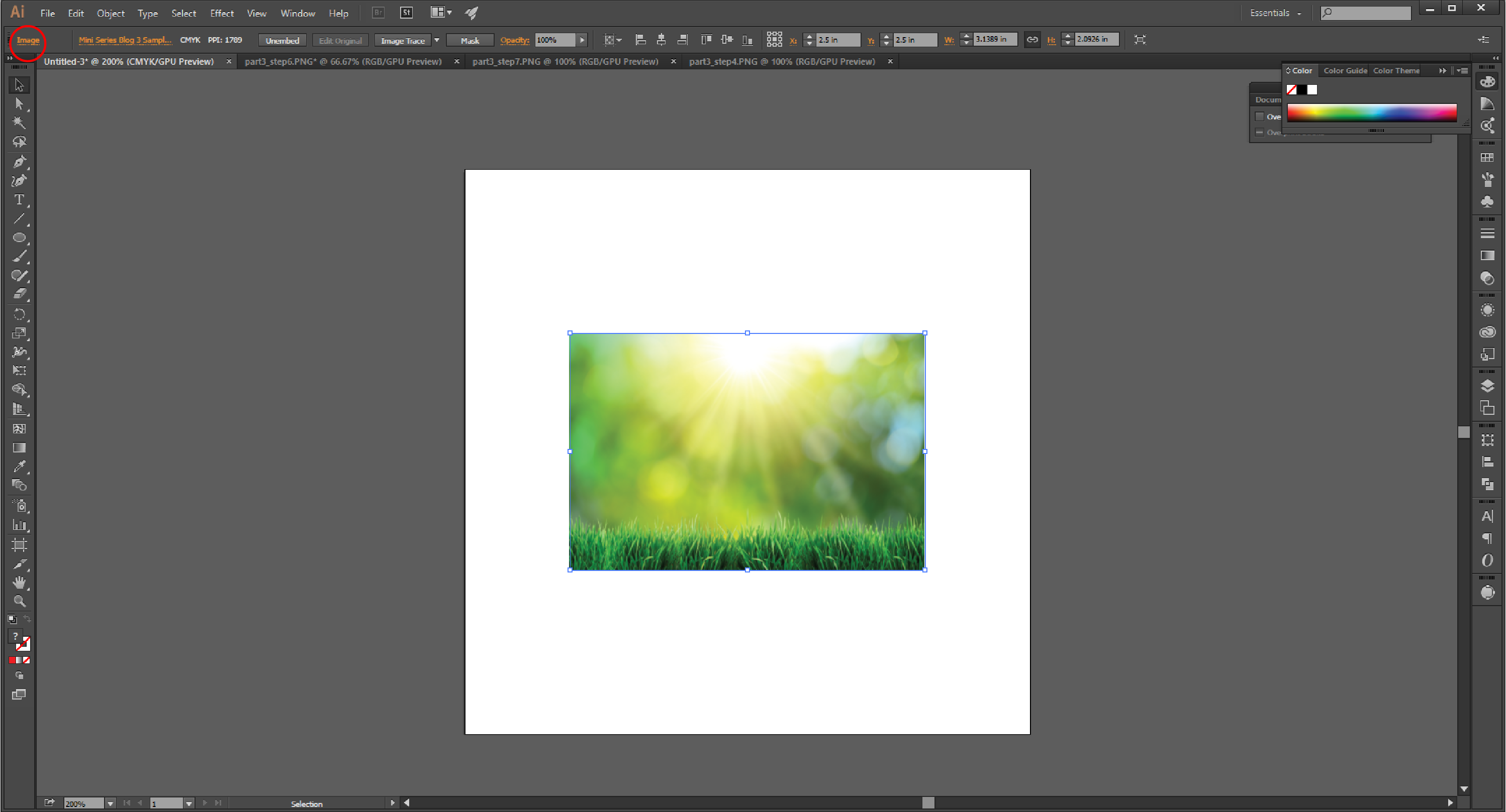 How to Embed an Image in Adobe Illustrator Step 5