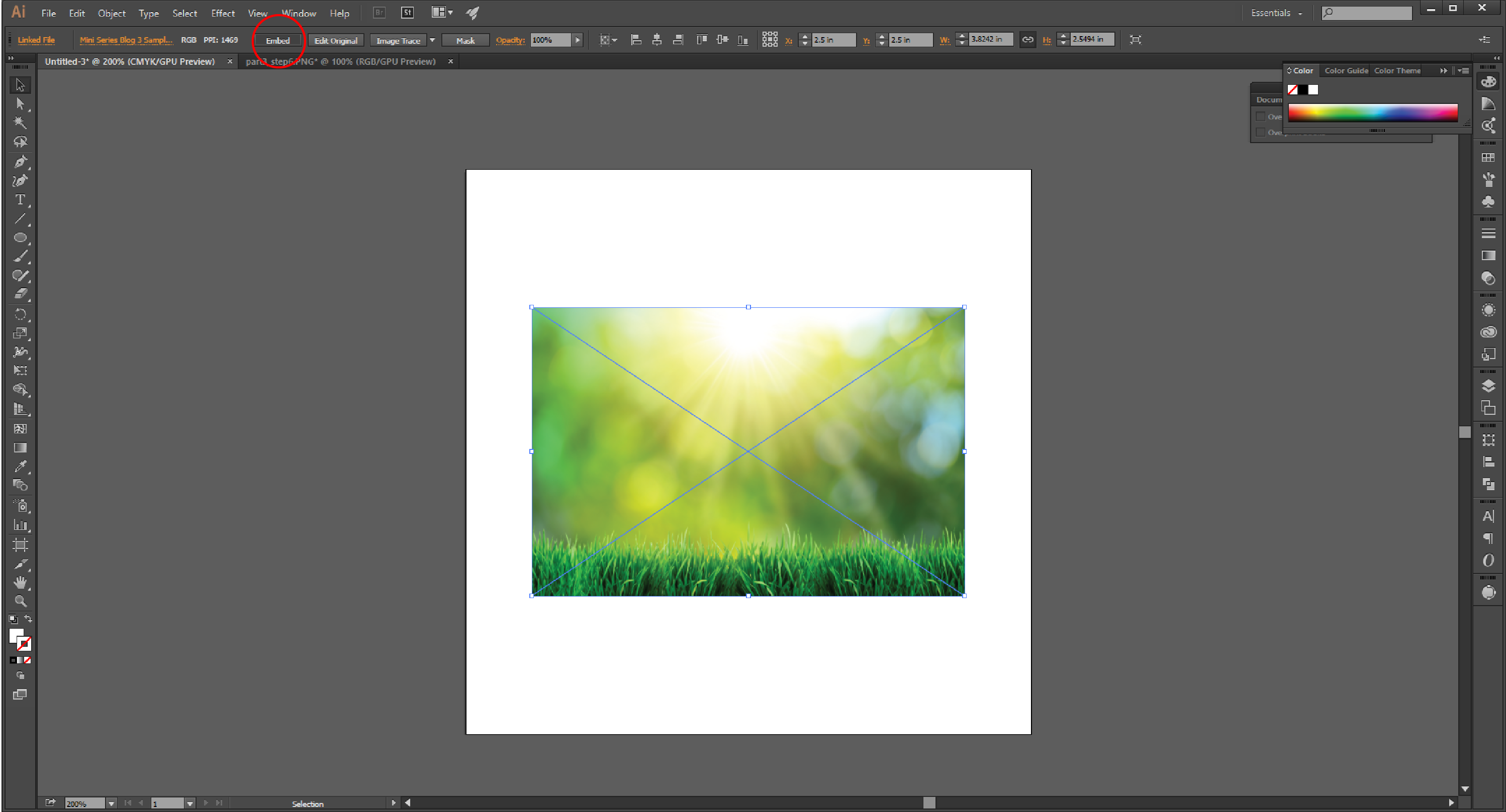 Linking Images in Illustrator Step 7