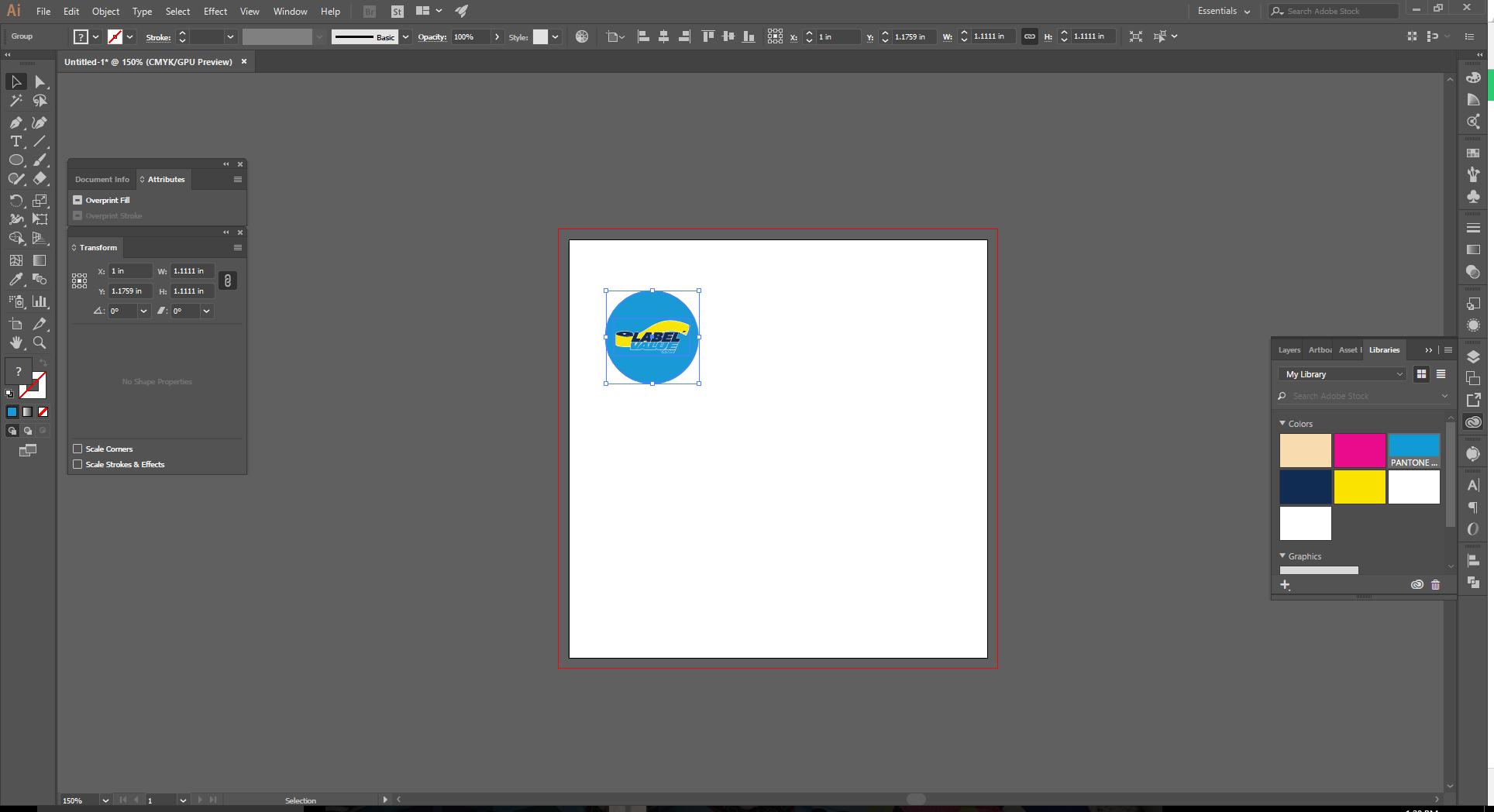 Align Tool Adobe Illustrator Step 1