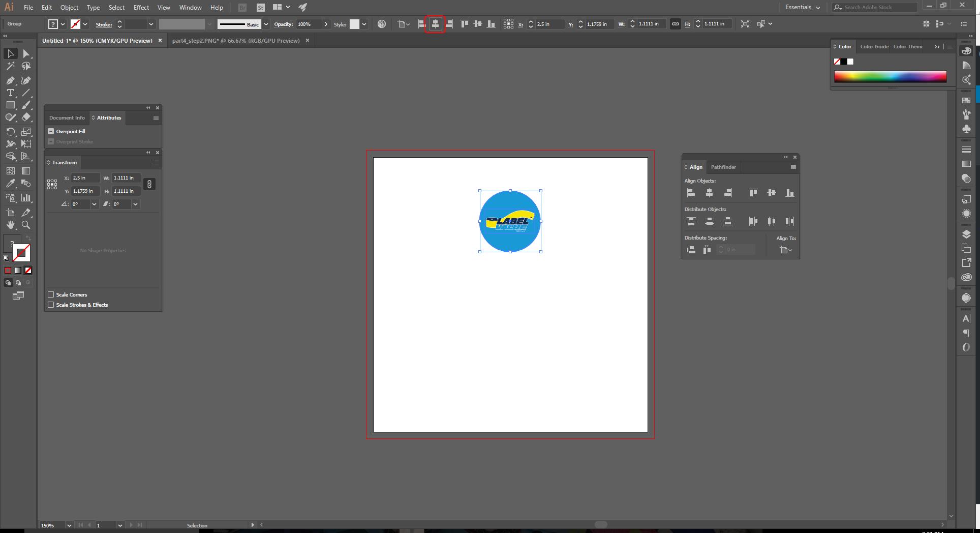Align Tool Adobe Illustrator Step 4