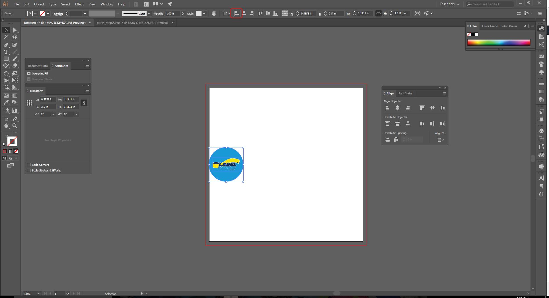 Align Tool Adobe Illustrator Step 6