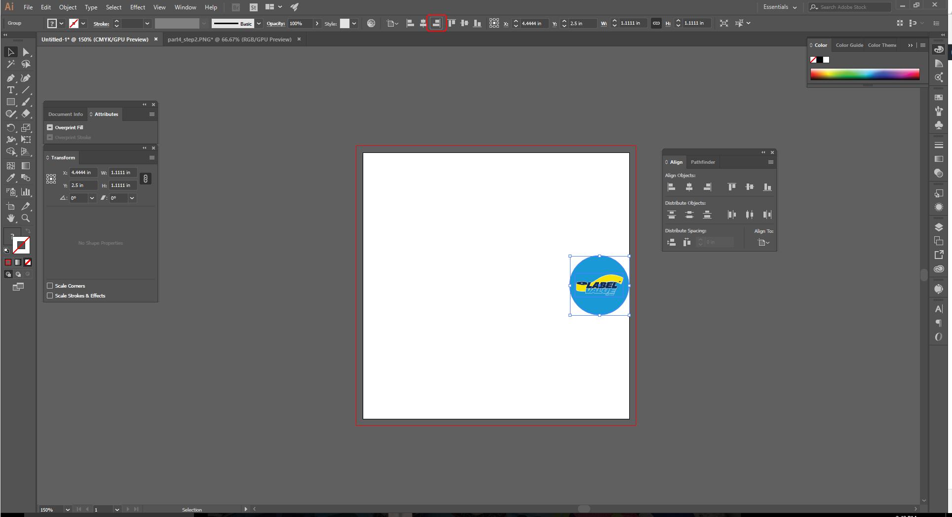 Align Tool Adobe Illustrator Step 7