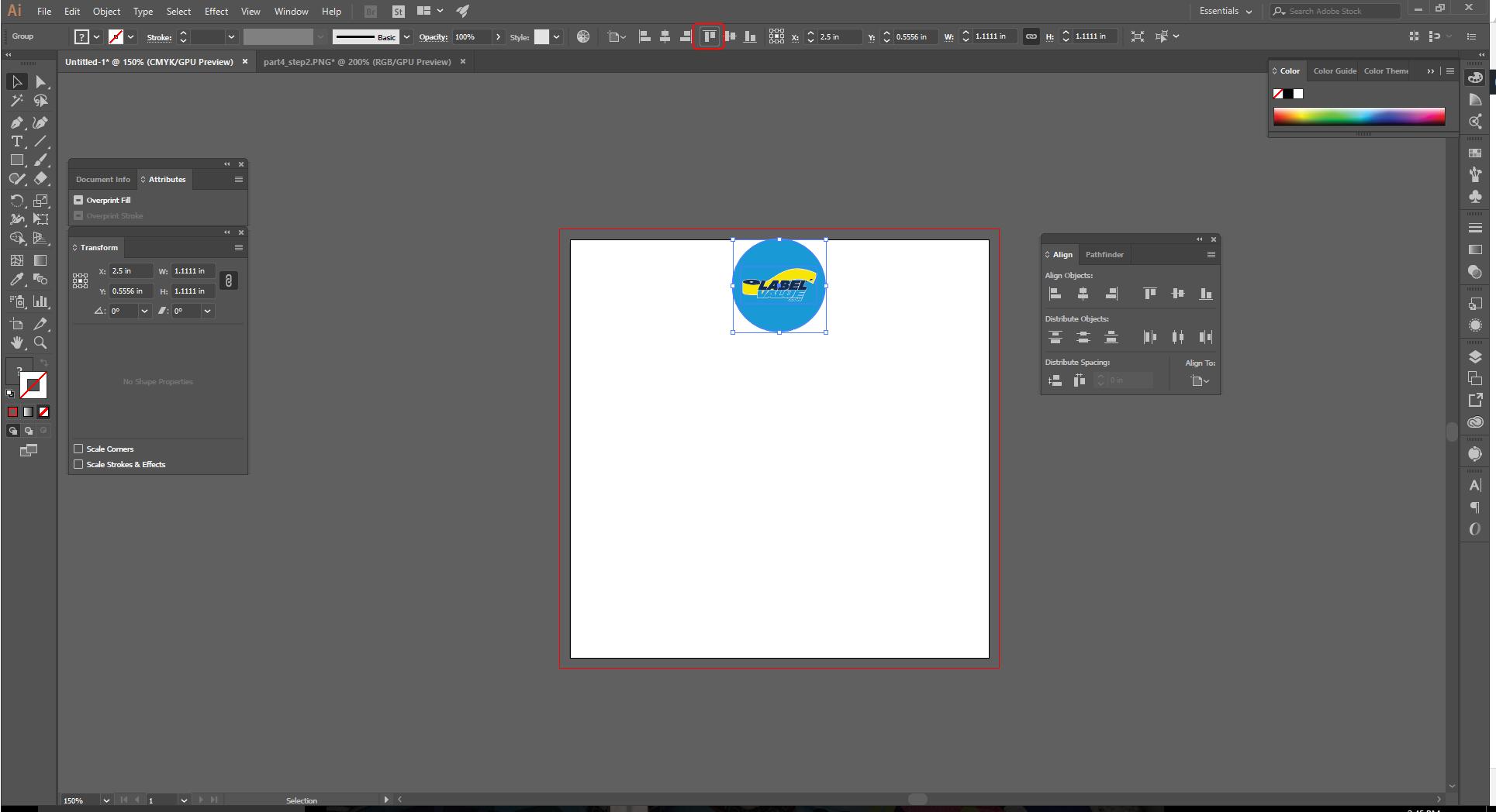 Align Tool Adobe Illustrator Step 8a