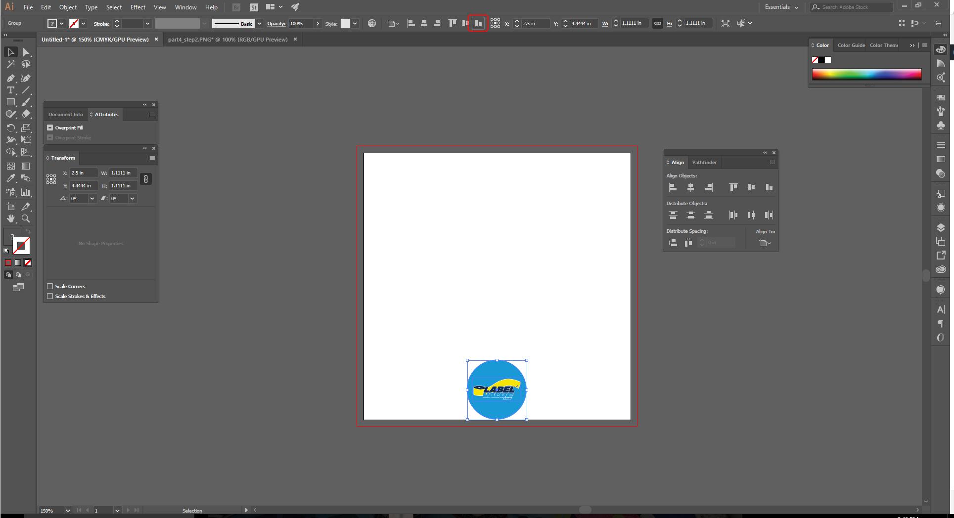 Align Tool Adobe Illustrator Step 8b