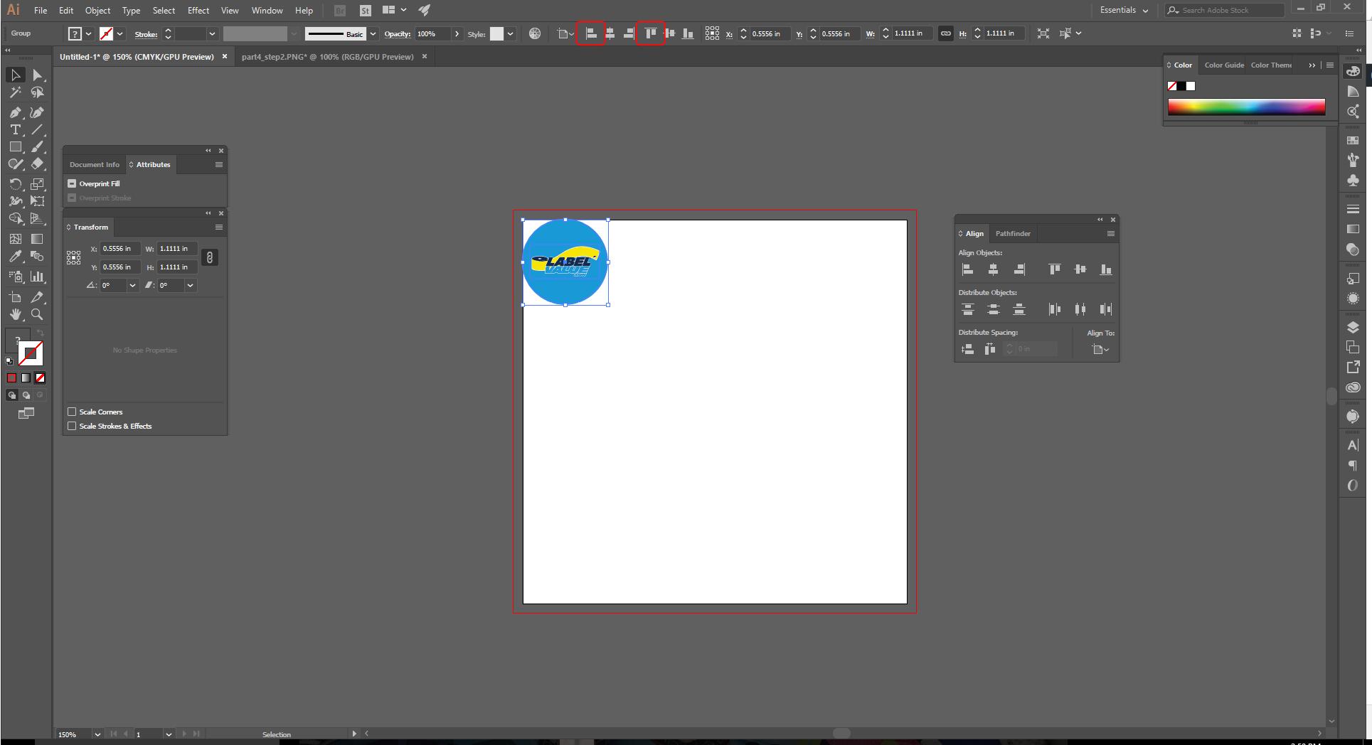 Align Tool Adobe Illustrator Step 9