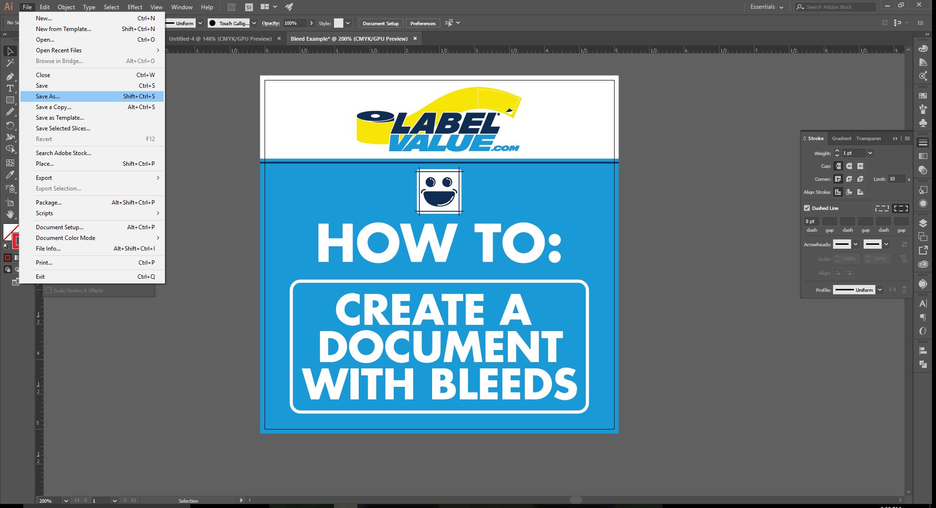 Align Tool Adobe Illustrator Step 10