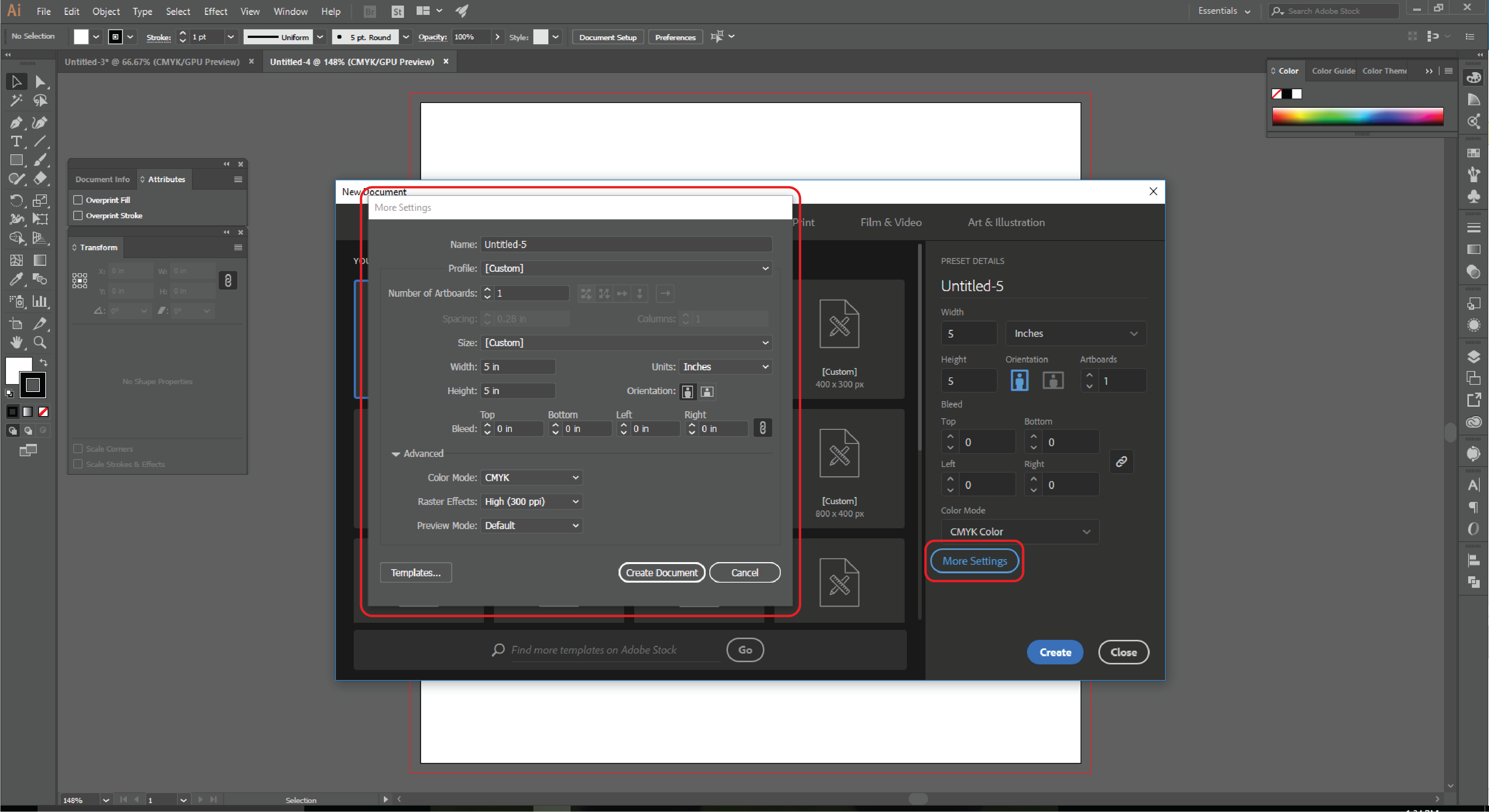 How to Set up Document Bleeds in Adobe Illustrator - 3