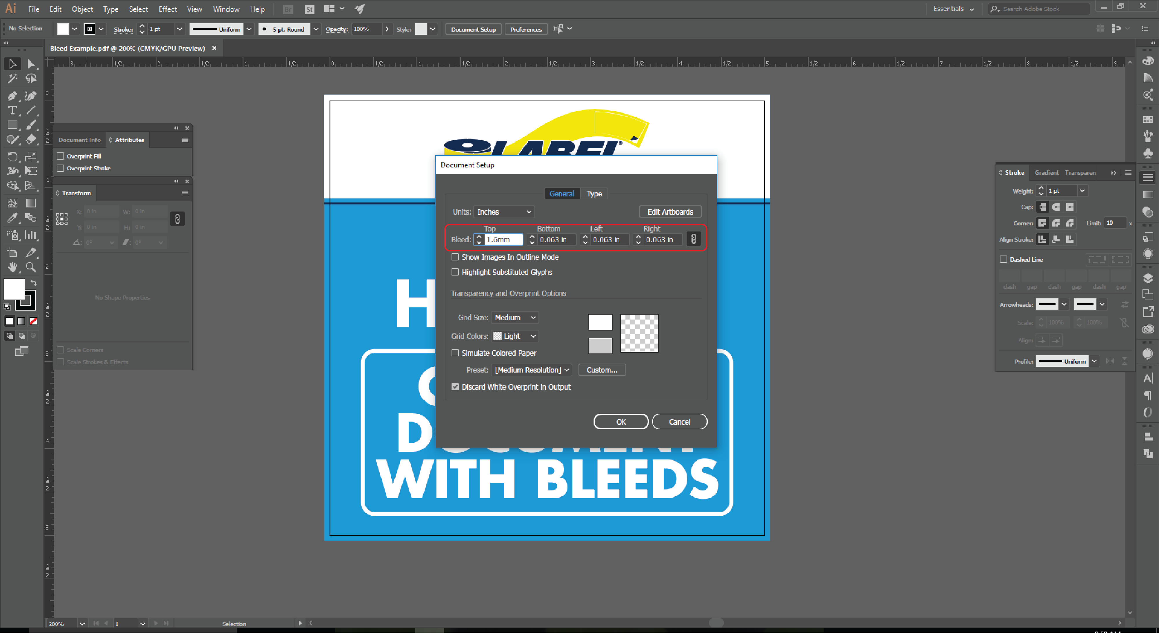 How to Add a Bleed to An Existing Document in Adobe Illustrator 3