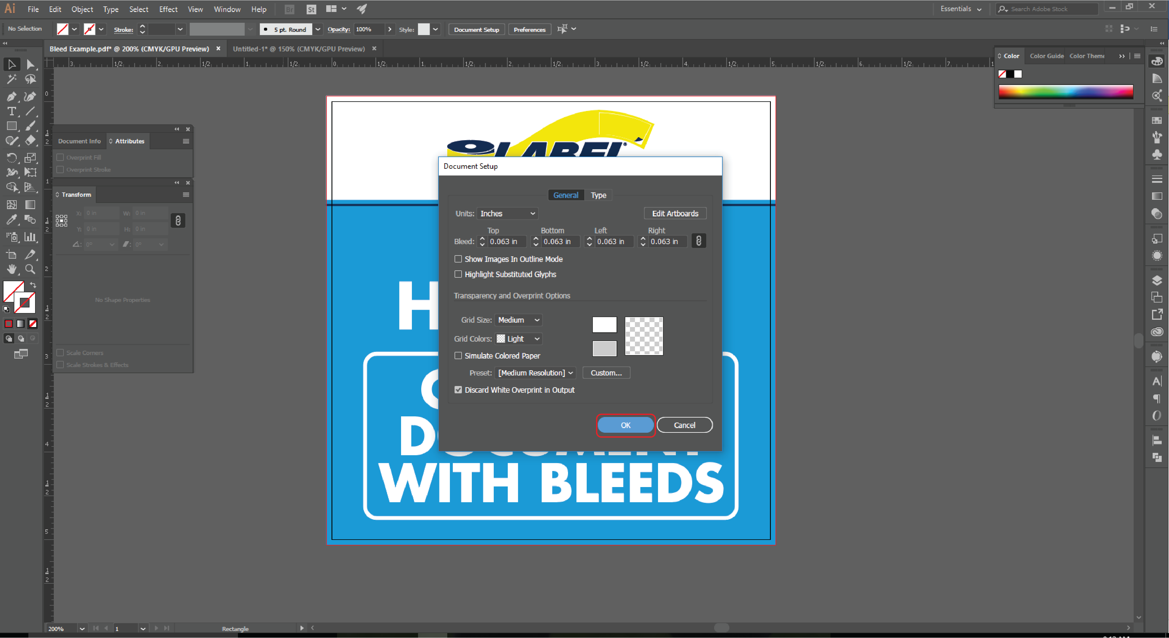 How to Add a Bleed to An Existing Document in Adobe Illustrator 4
