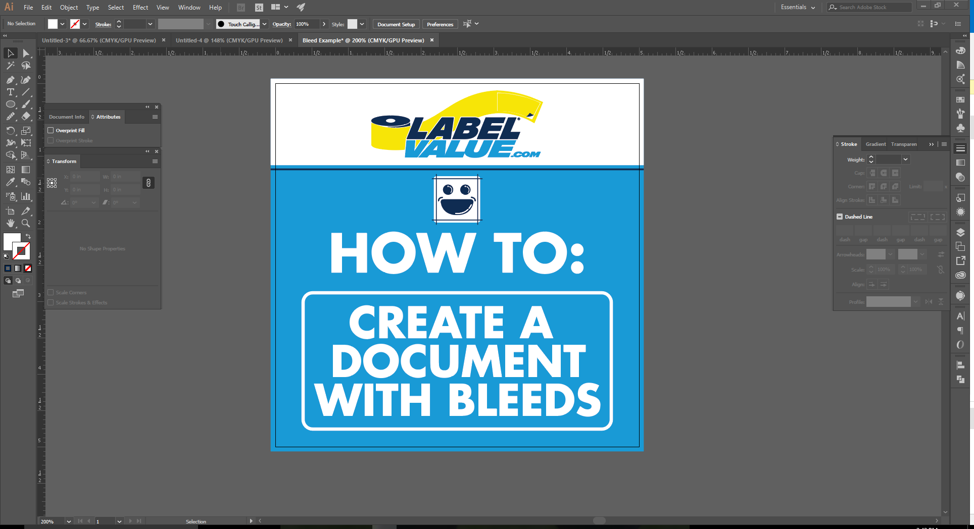 How to Set up Document Bleeds in Adobe Illustrator - 8