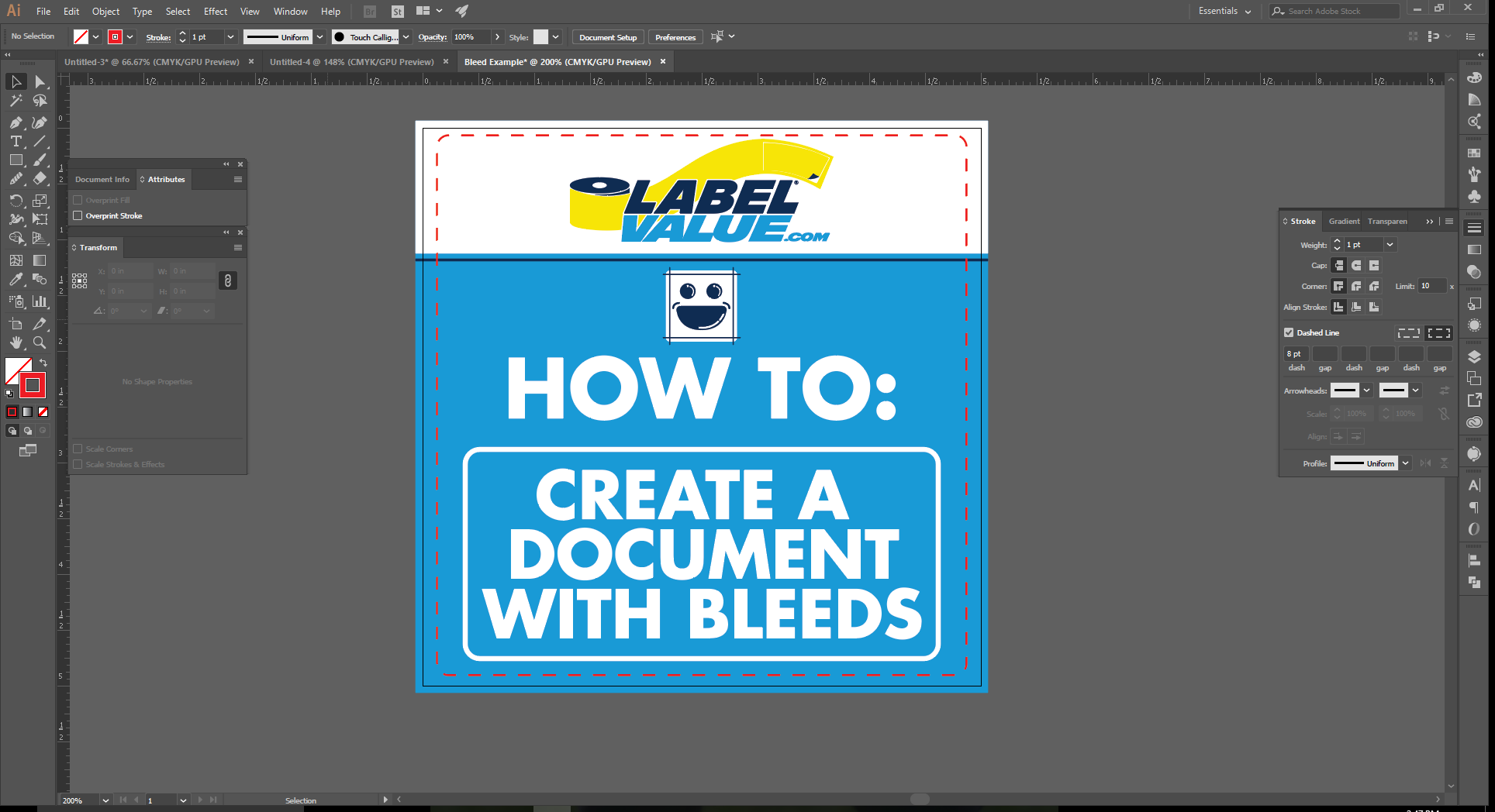 How to Set up Document Bleeds in Adobe Illustrator -9