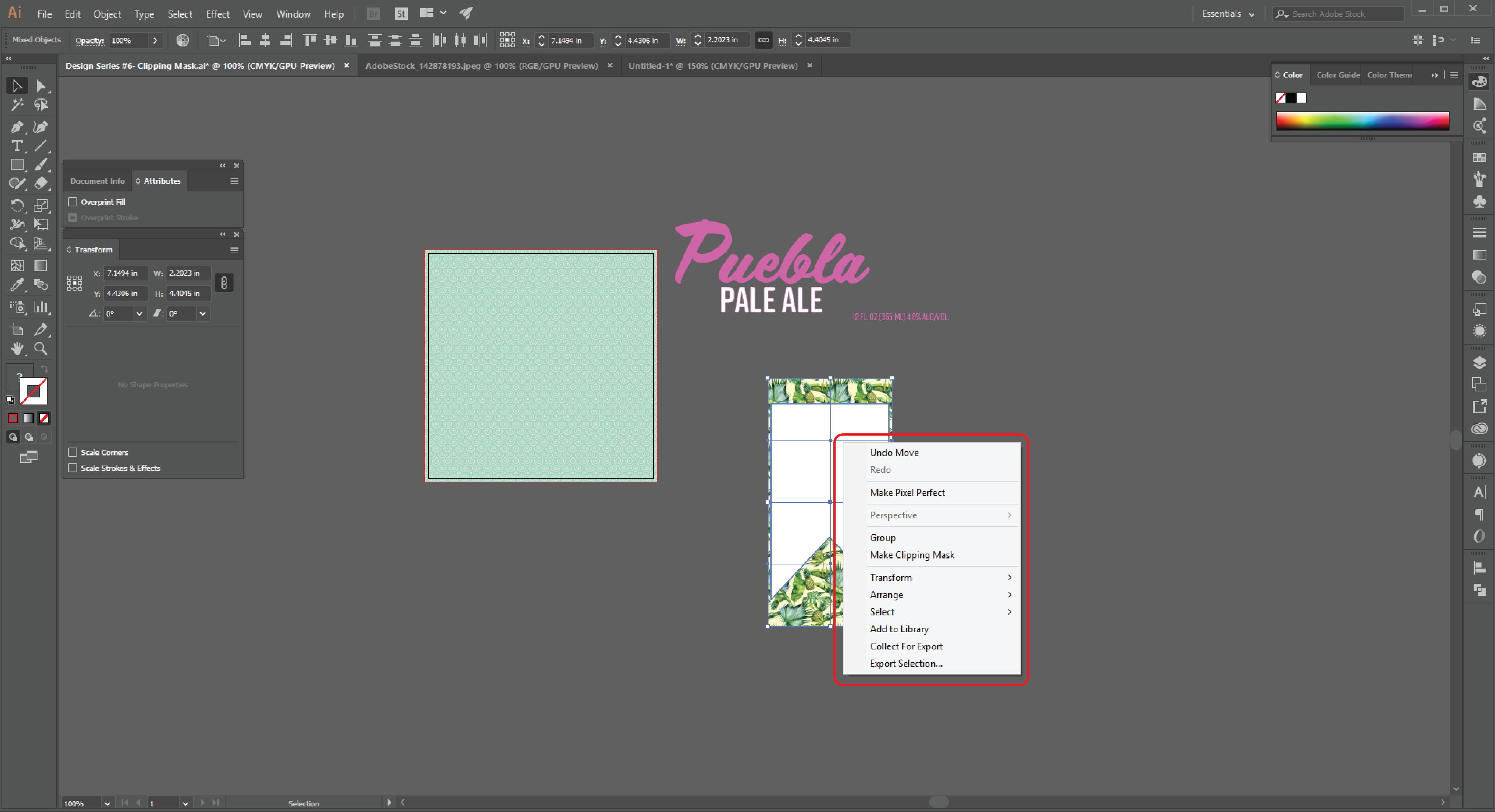How to Create a Clipping Mask  in Adobe Illustrator Step 11