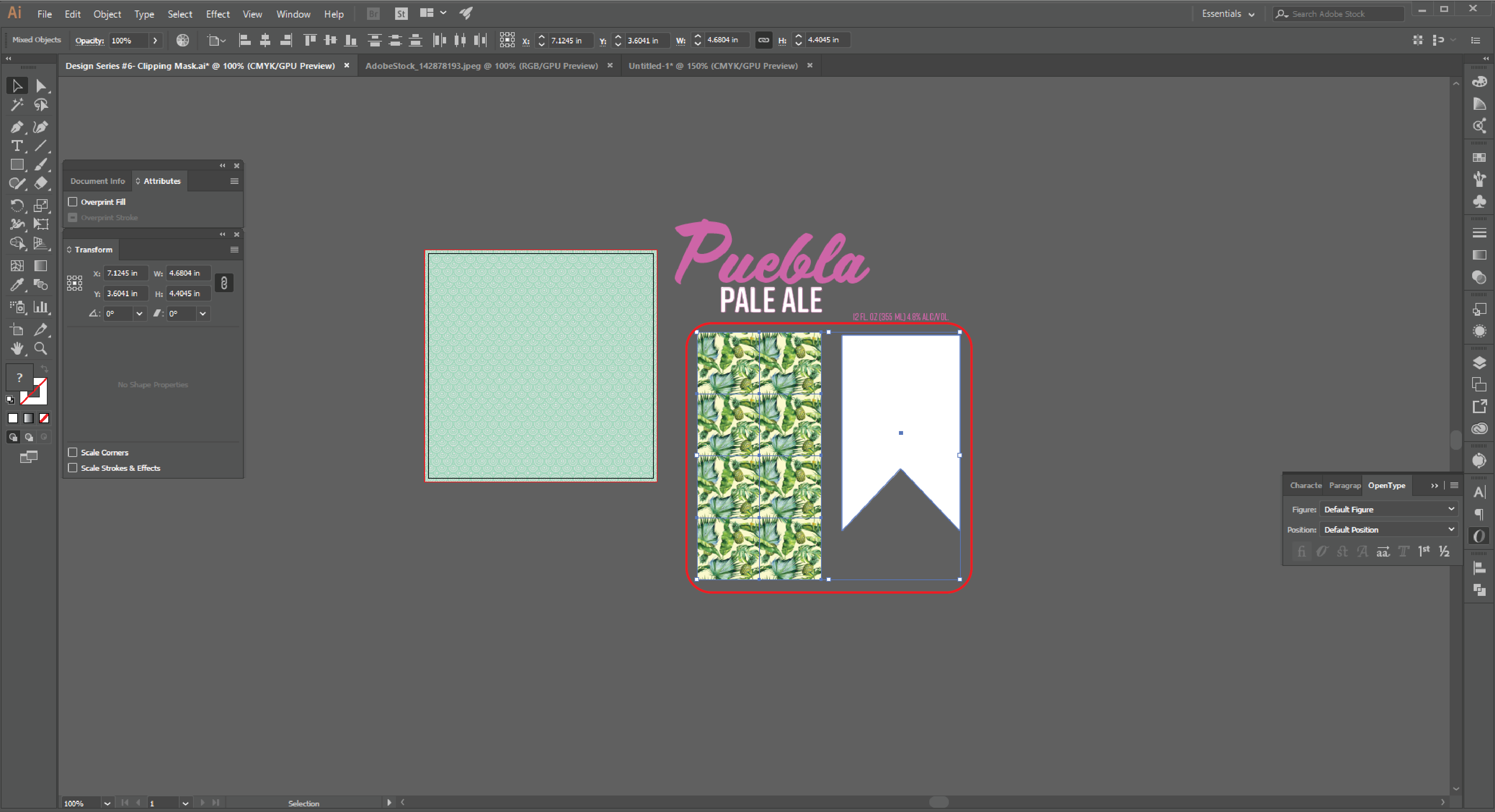 How to Create a Clipping Mask  in Adobe Illustrator Step 6
