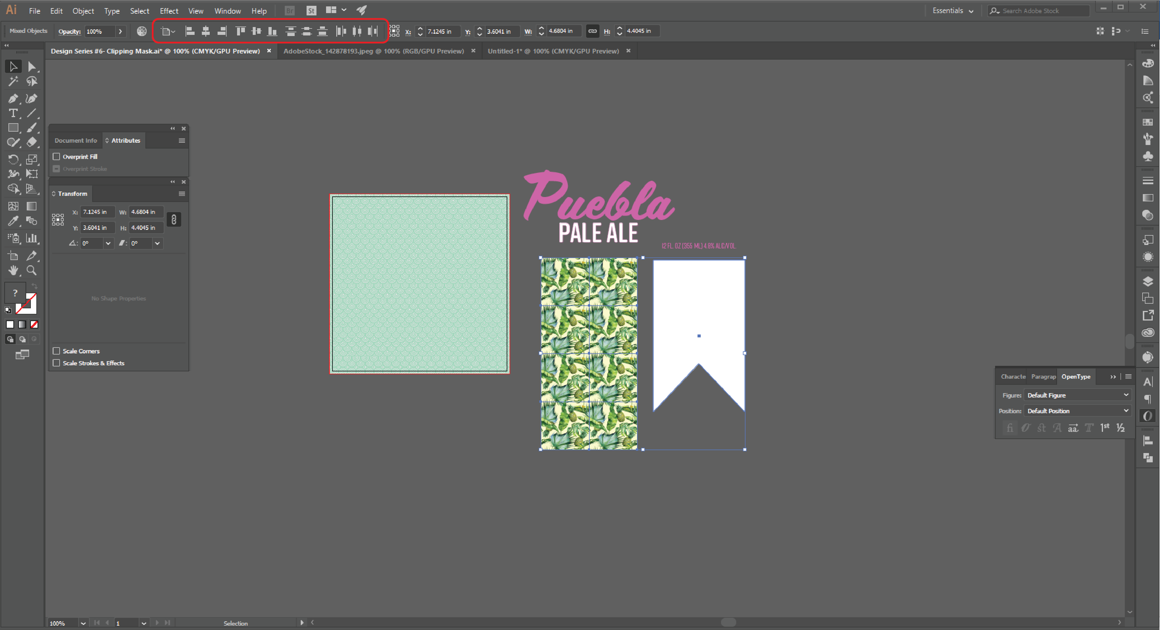 How to Create a Clipping Mask  in Adobe Illustrator - 7