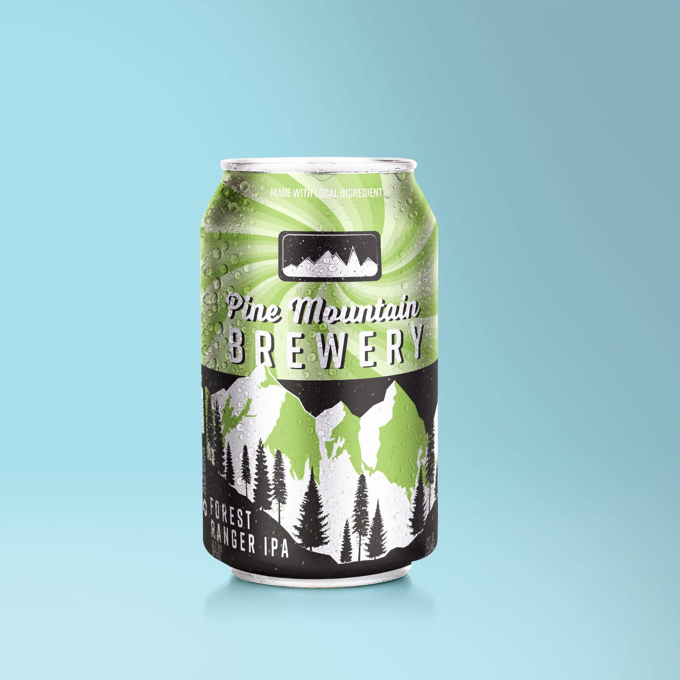 Pine Mountain Brewing Shrink Sleeve Can