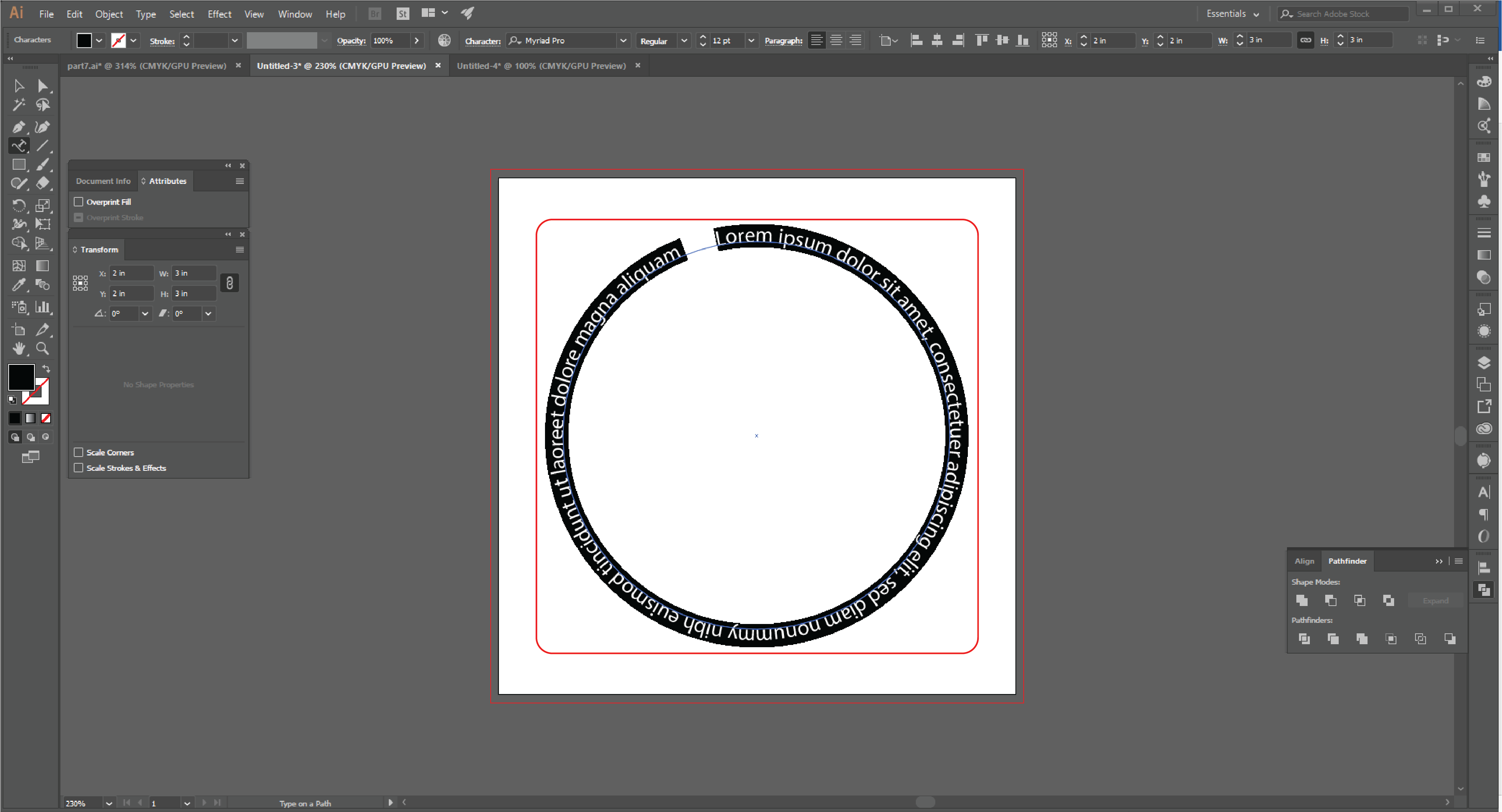 How to Type in a Circle Using the Path Tool in Adobe Illustrator  Step 12