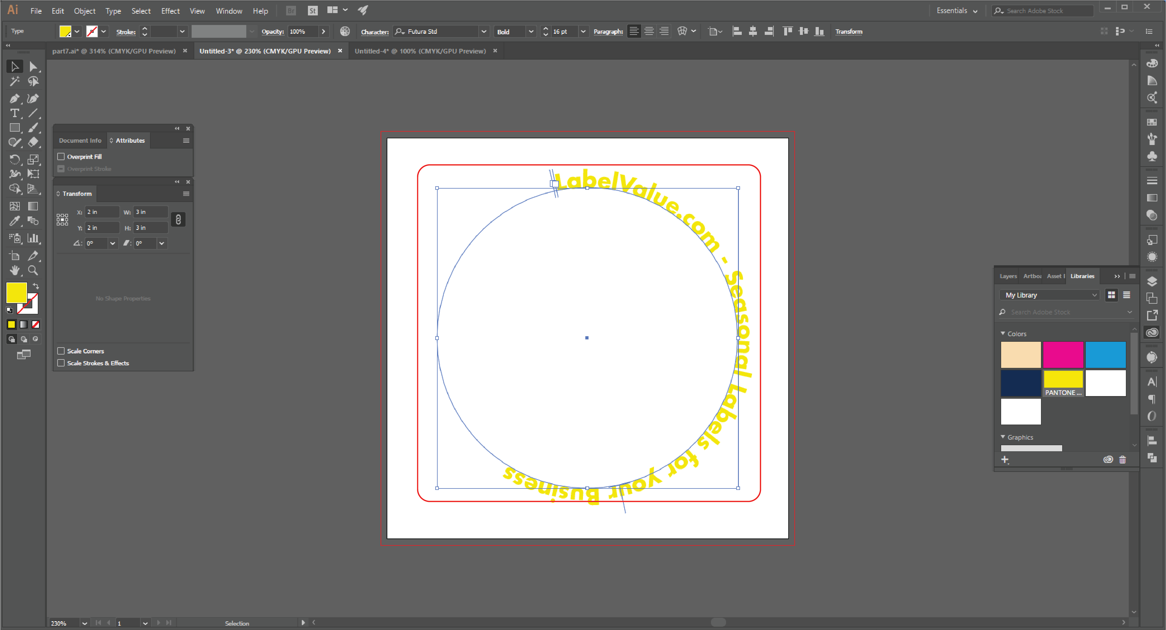 How to Type in a Circle Using the Path Tool in Adobe Illustrator  Step 14