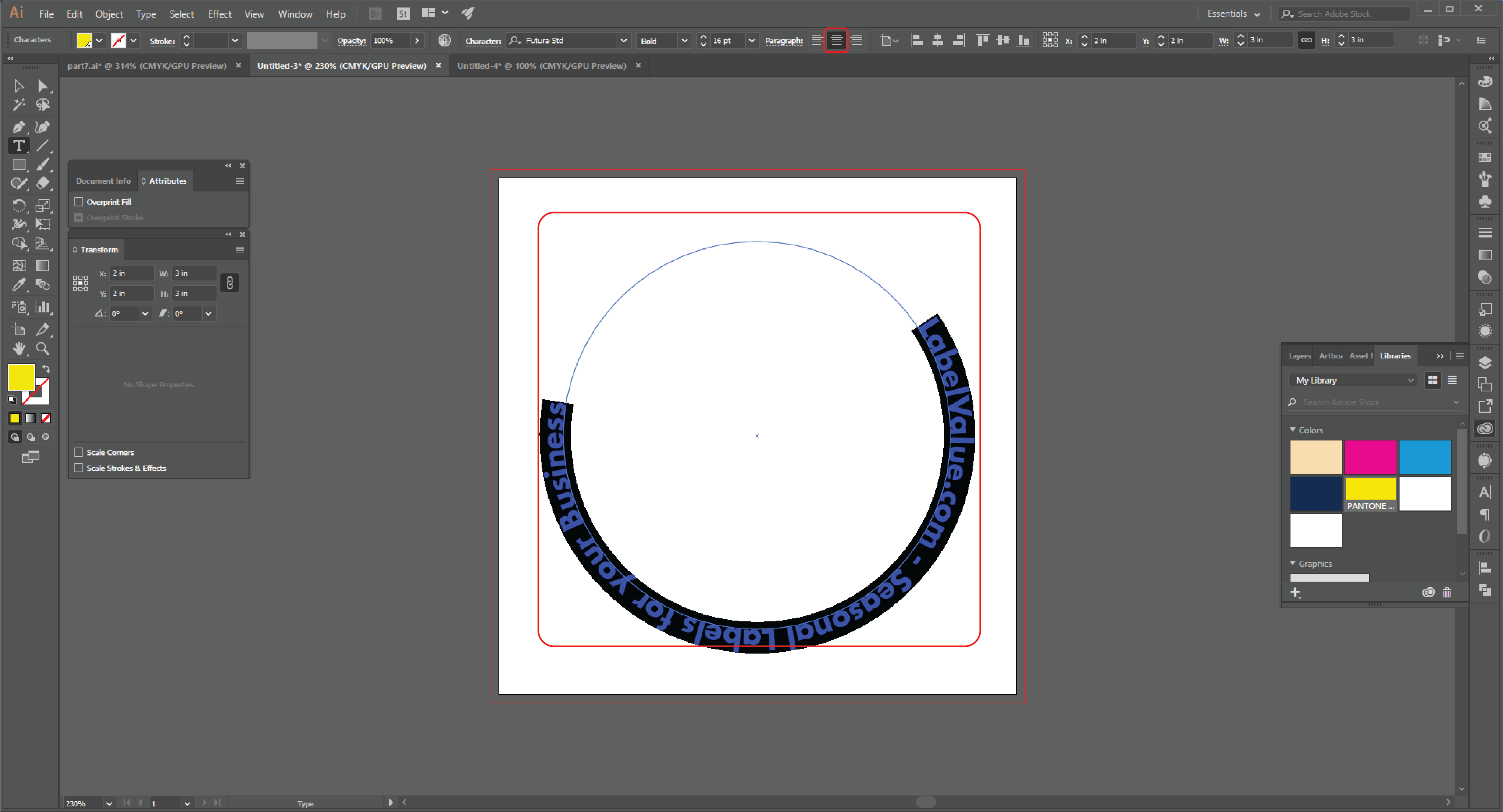 How to Type in a Circle Using the Path Tool in Adobe Illustrator  Step 15