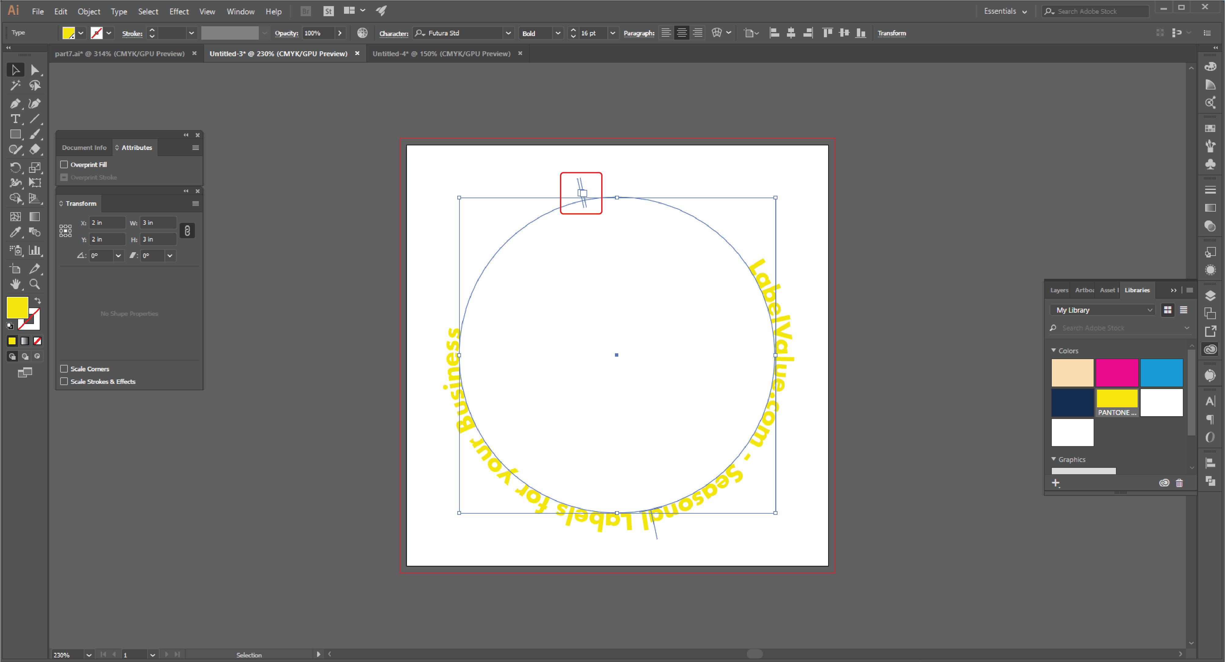 How to Type in a Circle Using the Path Tool in Adobe Illustrator  Step 16