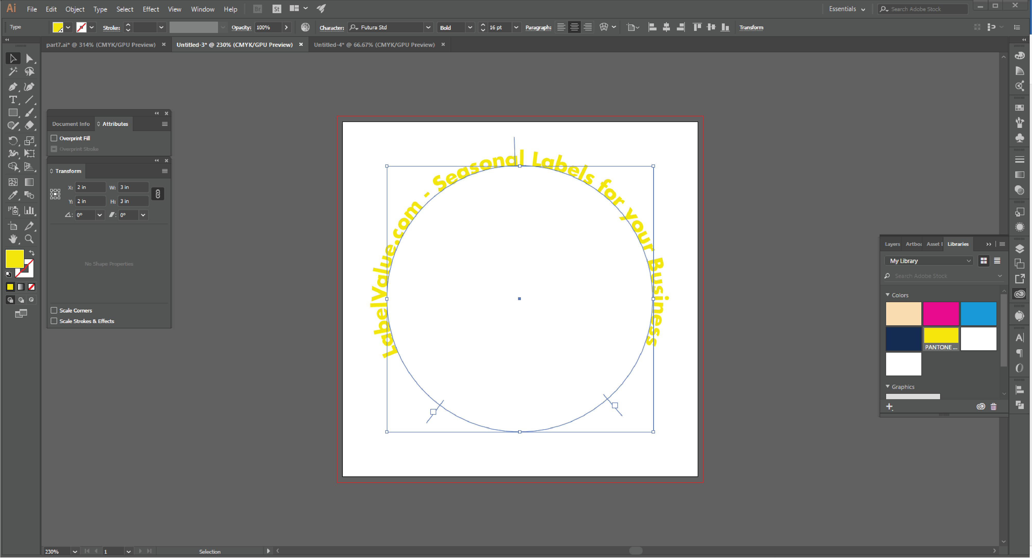How to Type in a Circle Using the Path Tool in Adobe Illustrator  Step 17