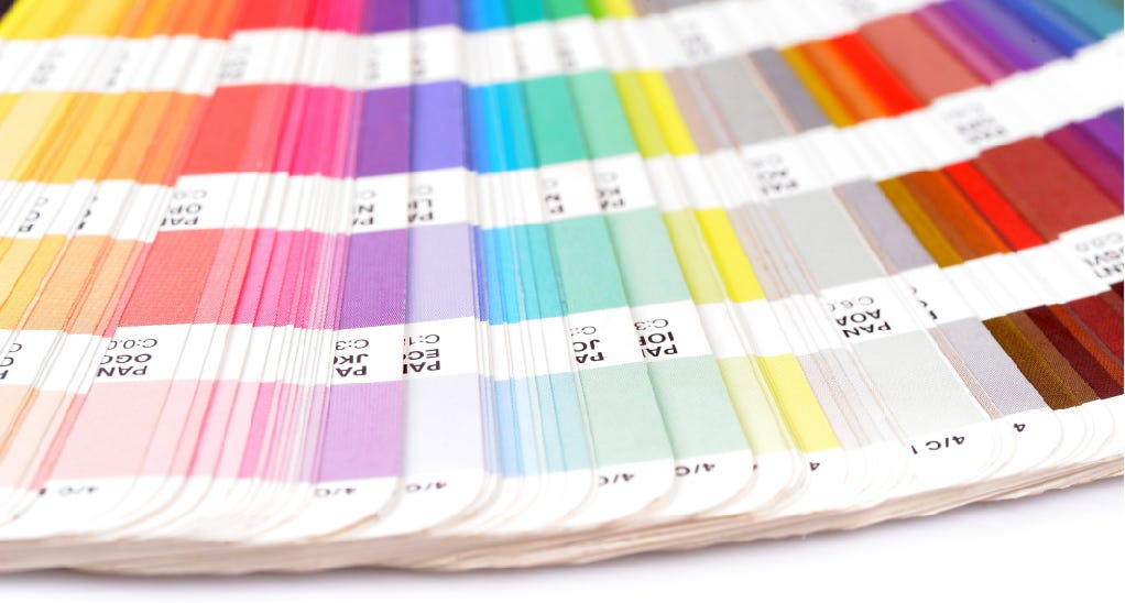 pantone color library book