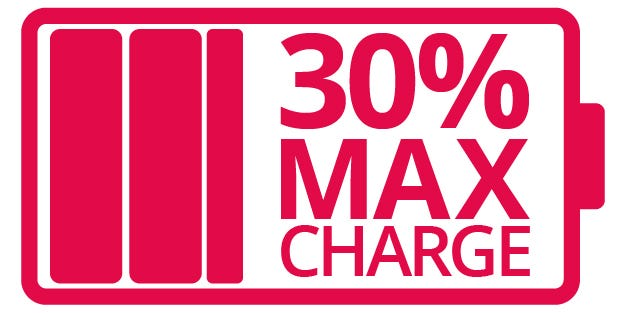 max charge for shipping lithium batteries