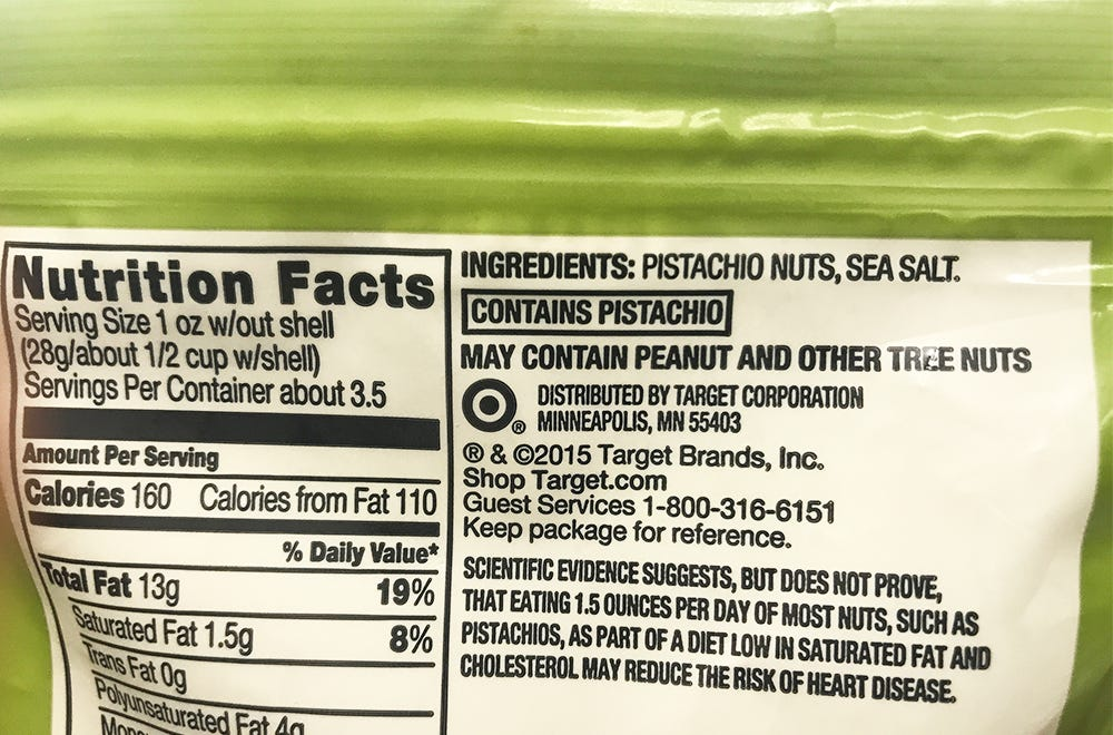 food allergy labeling contains allergen warning