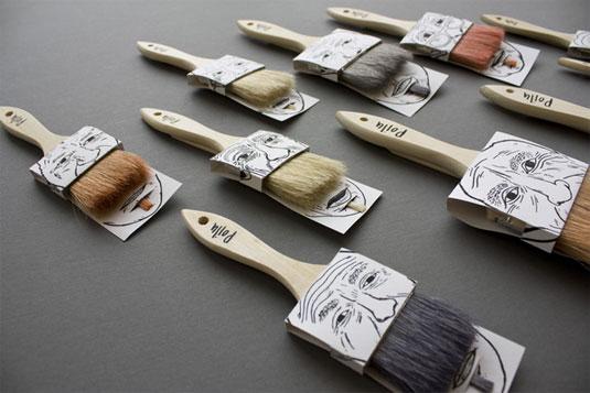 paint brush faces