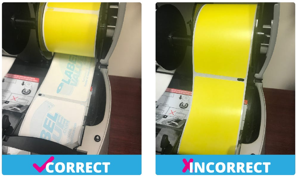 how to insert labels into Dymo Printer