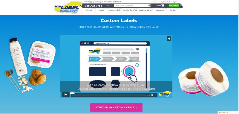 InstaProof - Custom labels landing page