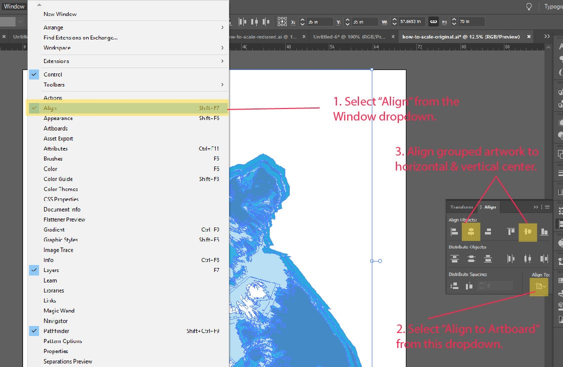 Step 7: How to Scale and Resize Objects in Adobe Illustrator