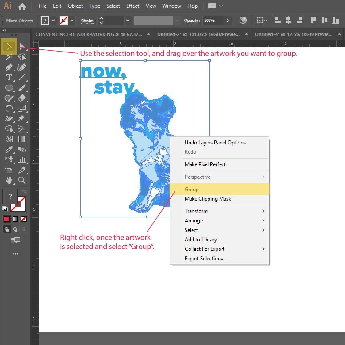 Step 2: How to Resize or Scale Object in Adobe Illustrator
