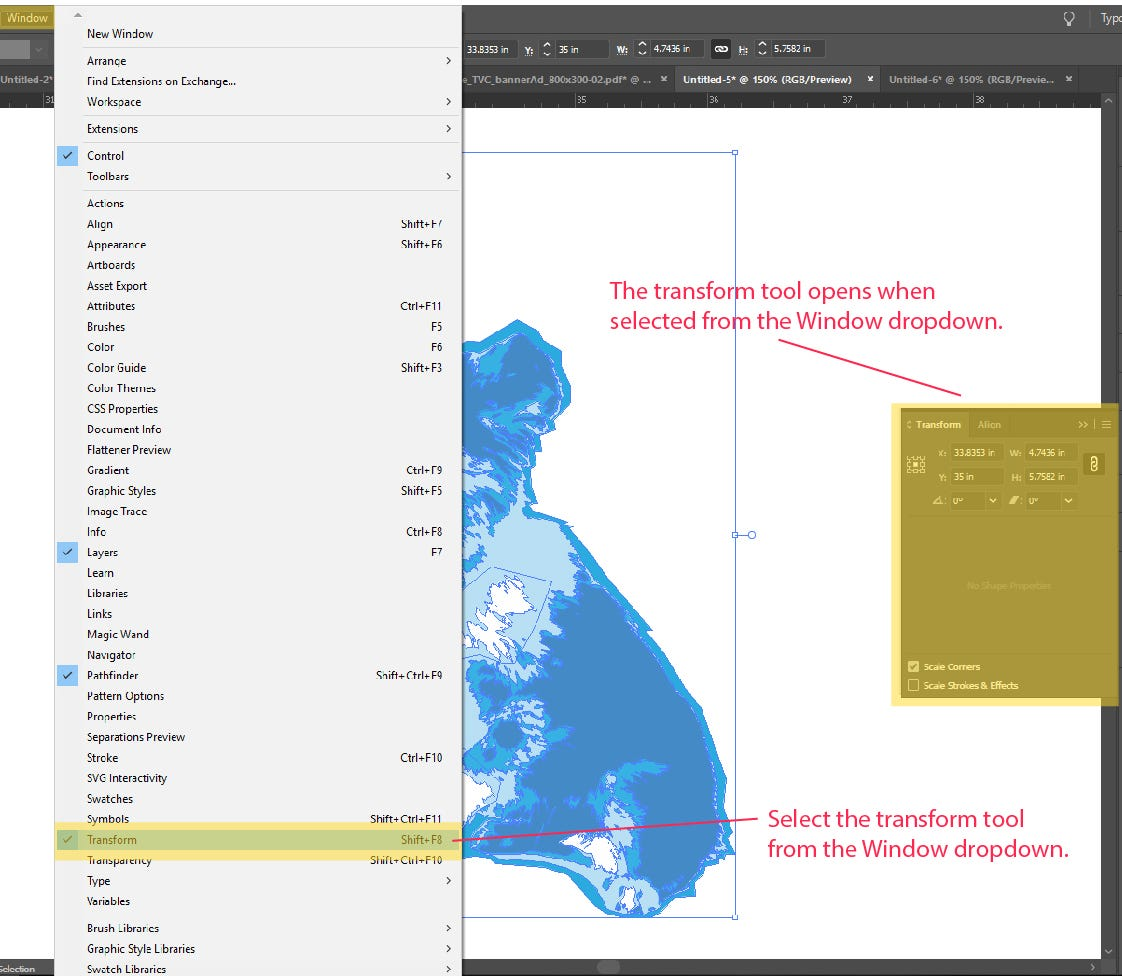 Step 3: How to Scale and Resize Objects in Illustrator
