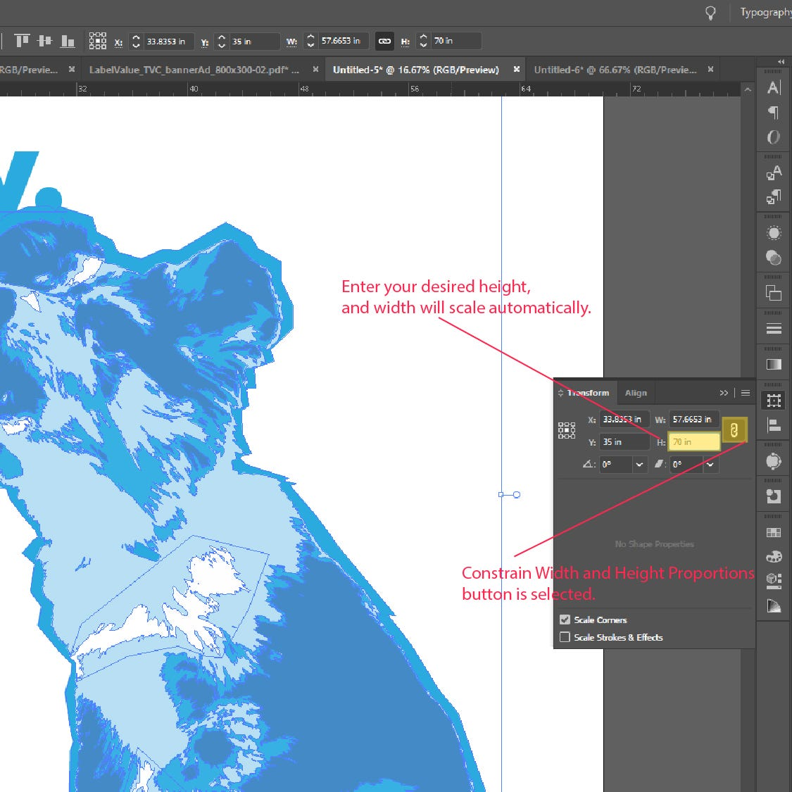 Step 4: How to Scale and Resize Objects In Adobe Illustrator